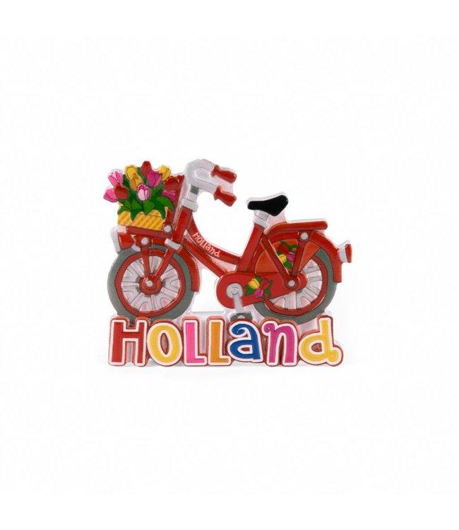 12 stuks magneet polystone fiets rood Holland
