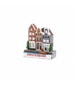 12 stuks 3D magneet 3 huizen Amsterdam