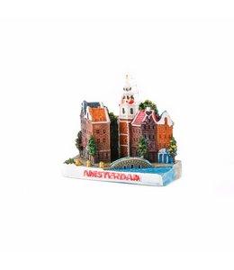 12 stuks 3D magneet stadstafereel Amsterdam