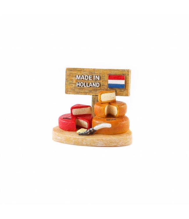 12 stuks 3D magneet kaas Holland