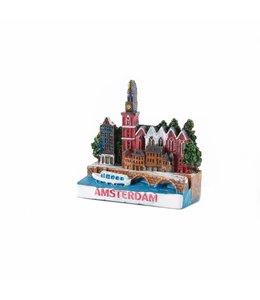 12 stuks 3D magneet Oude Kerkplein Amsterdam
