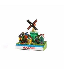12 stuks 3D magneet dorpstafereel Holland