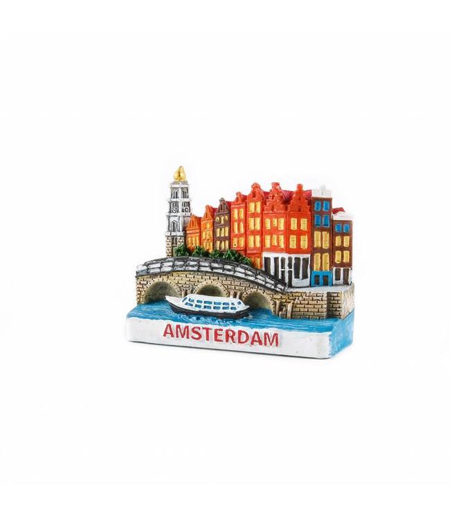 12 stuks 3D magneet Papeneiland Amsterdam