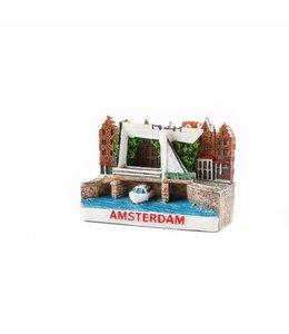 12 stuks 3D magneet ophaalbrug Amsterdam