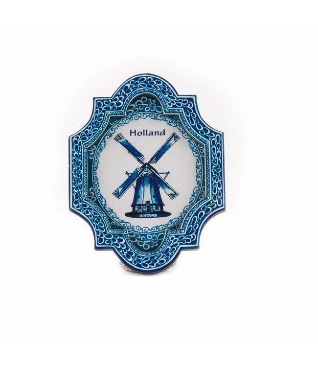 12 stuks Magneet 2D MDF plaquette molen db Holland