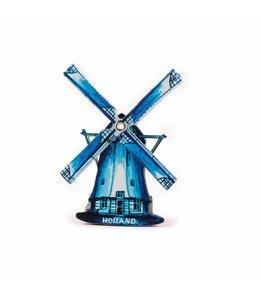 12 stuks Magneet 2D MDF poldermolen delftsblauw