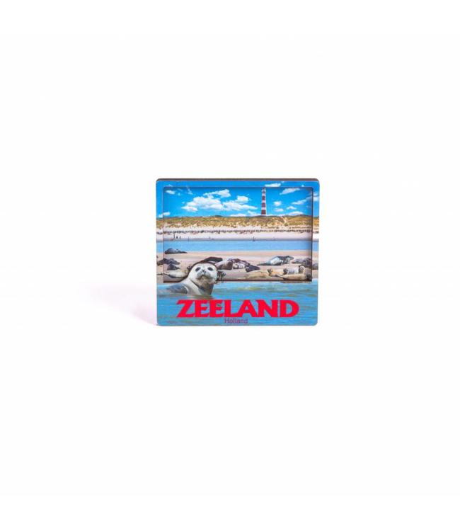12 stuks Magneet 2D MDF compilatie Zeeland