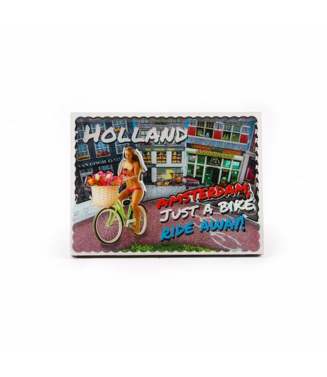 12 stuks Magneet 2D coating bike ride away Amsterdam