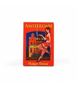 12 stuks Magneet 2D MDF meisje Red Light Amsterdam