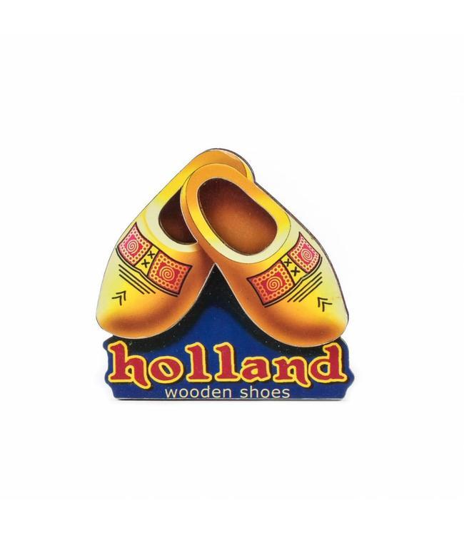 12 stuks Magneet 2D MDF klompen Holland
