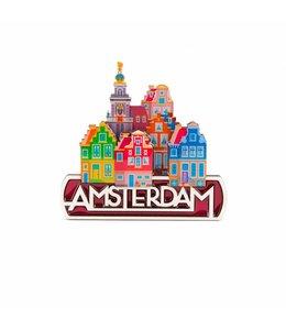 12 stuks Magneet 2D MDF coating stadstafereel Amsterdam