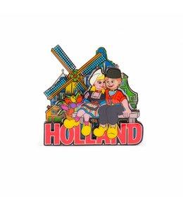12 stuks Magneet 2D MDF coating Holland compilatie paartje op bank