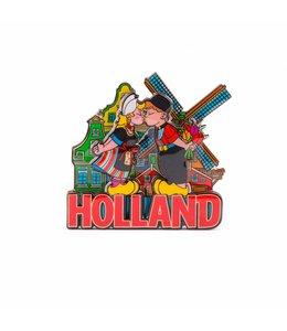 12 stuks Magneet 2D MDF coating Holland compilatie kuspaartje