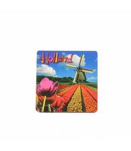 12 stuks Magneet 2d MDF tulp molen Holland
