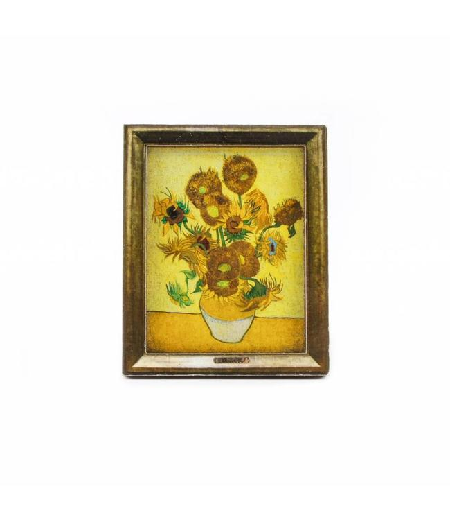 12 stuks Magneet 2D MDF Zonnebloemen - Van Gogh