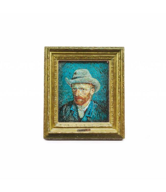 12 stuks Magneet 2D MDF Zelfportret - Van Gogh