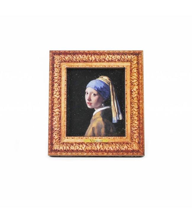 12 stuks Magneet 2D MDF Meisje Met De Parel Vermeer