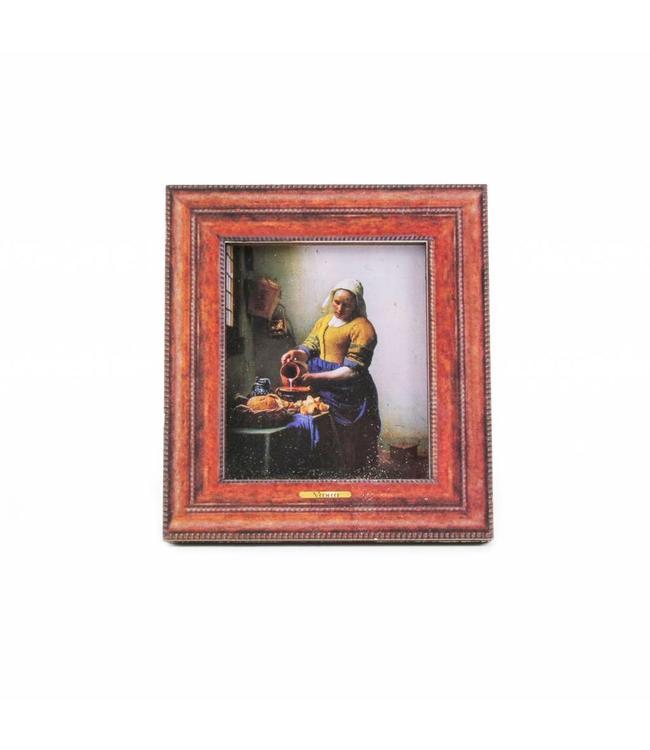 12 stuks Magneet 2D MDF Melkmeisje Vermeer