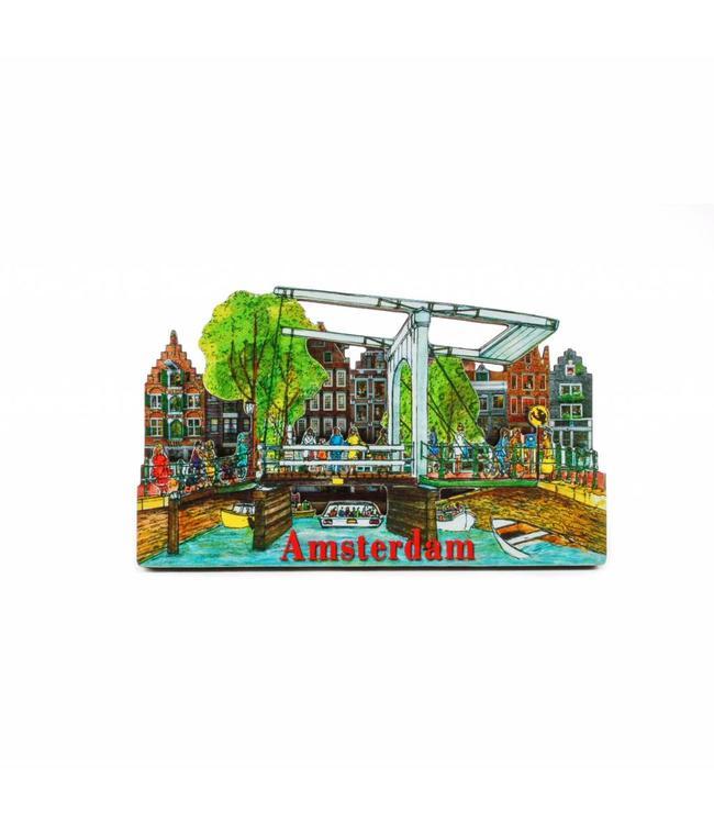 12 stuks Magneet 2D MDF ophaalbrug Amsterdam