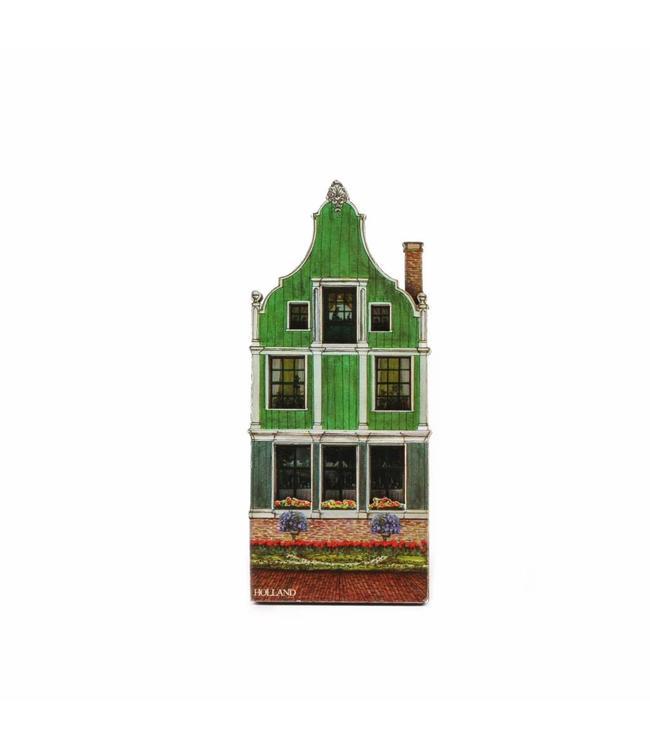 12 stuks Magneer 2D MDF Zaans huisje zonder deur