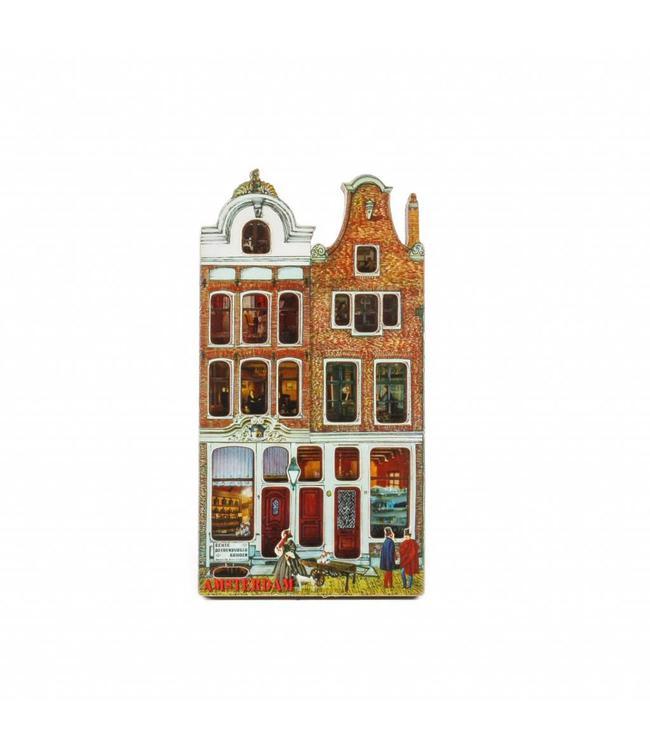 12 stuks Magneet 2D MDF huis Stromarkt Amsterdam