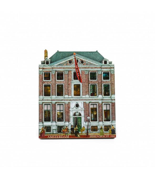 12 stuks Magneet 2D MDF Herengracht museum Amsterdam