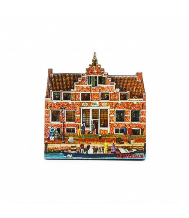 12 stuks Magneet 2D MDF Aalsmeer Veerhuis Amsterdam