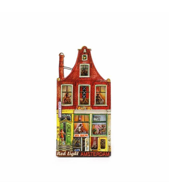 12 stuks Magneet 2D MDF sex house Red Light Amsterdam