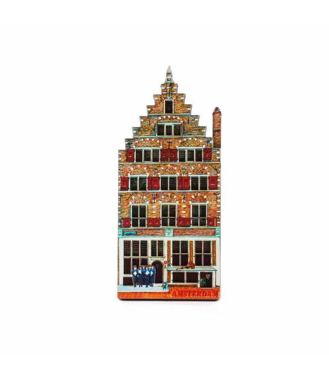 12 stuks Magneet 2D MDF huis Leeuwenburch Amsterdam