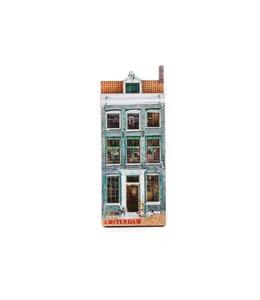 12 stuks Magneet 2D MDF huis Jacob Hooy Amsterdam