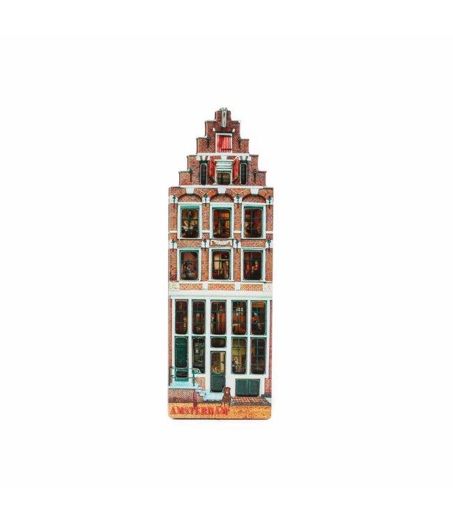 12 stuks Magneet 2D MDF Egelantiershuis Amsterdam