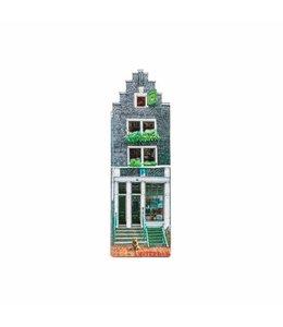 12 stuks Magneet 2D MDF huis in de Moerjan Amsterdam