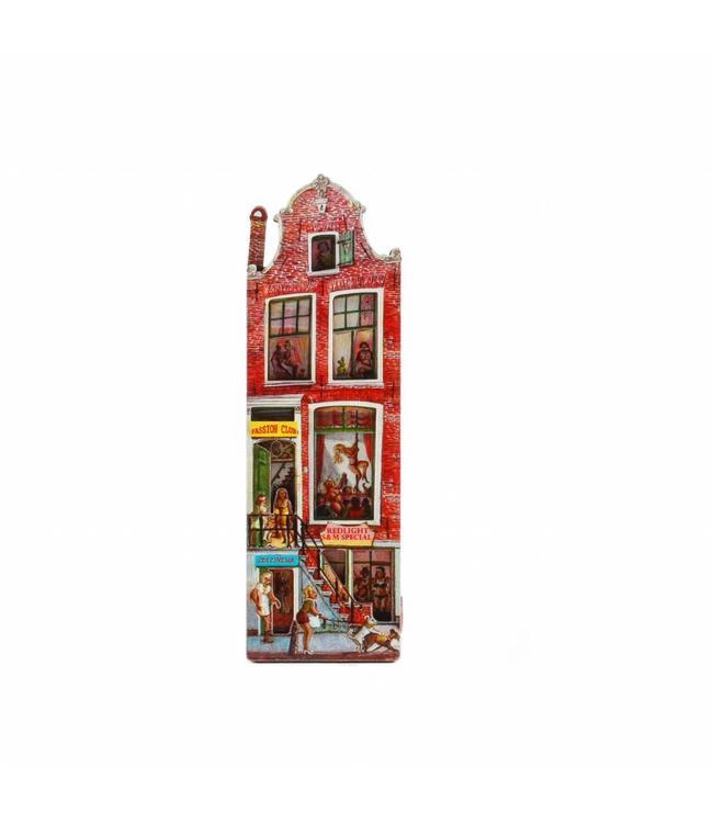 12 stuks Magneet 2D MDF Red Light huis Amsterdam