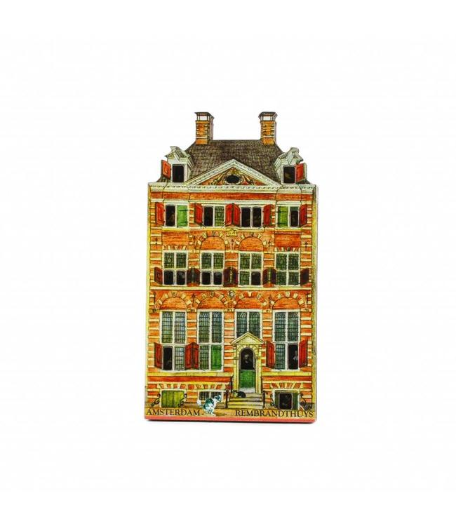 12 stuks Magneet 2D MDF Rembrandthuys Amsterdam