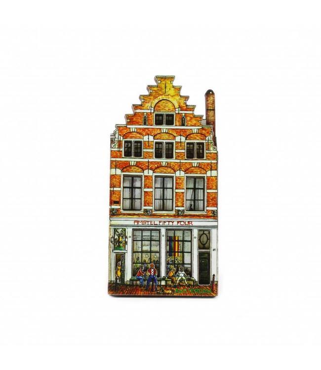 12 stuks Magneet 2D MDF huis Amstel Fifty Four Amsterdam