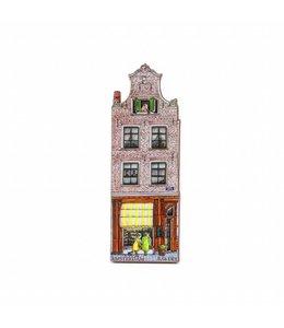 12 stuks Magneet 2D MDF huis bakkerij Arnold Cornelis