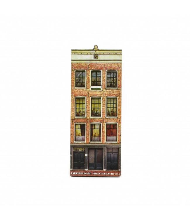 12 stuks Magneet 2D MDF Anne Frank huis Amsterdam