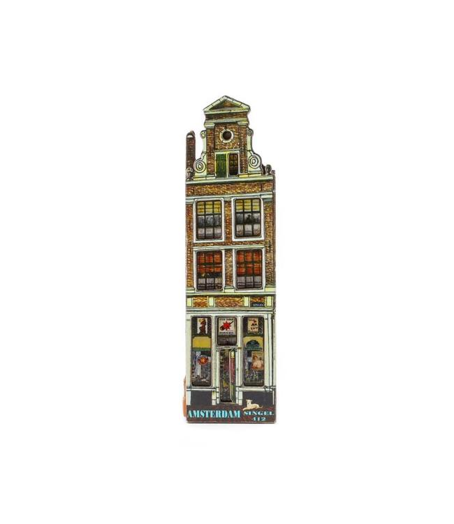 12 stuks Magneet 2D MDF huis tabakswinkel Amsterdam