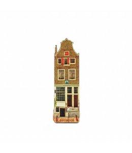 12 stuks Magneet 2D MDF huis met 2 deuren Amsterdam