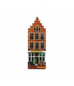 12 stuks Magneet 2D MDF huis cofffeeshop Amsterdam