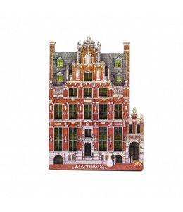 12 stuks Magneet 2D MDF Huis met de Hoofden Amsterdam