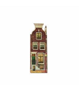 12 stuks Magneet 2D MDF huis met lantaarn  Amsterdam