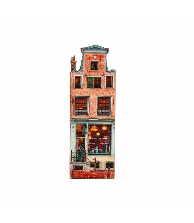 12 stuks Magneet 2D MDF huis Kramer Amsterdam
