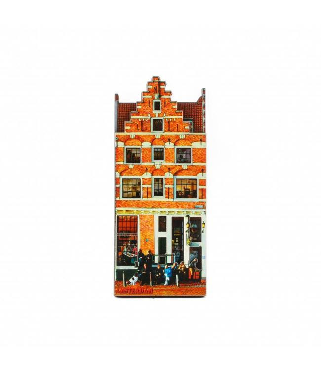 12 stuks Magneet 2D MDF Cafe Papeneiland Amsterdam
