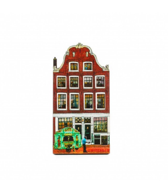 12 stuks Magneet 2D MDF Brouwersgracht Amsterdam