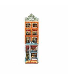 12 stuks Magneet 2D MDF delftsblauw winkel Amsterdam