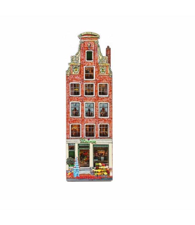 12 stuks Magneet 2D MDF bloemenwinkel Amsterdam