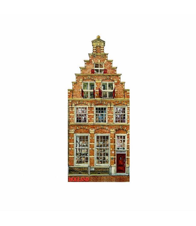 12 stuks Magneet 2D MDF huis Spaarne 108 Haarlem