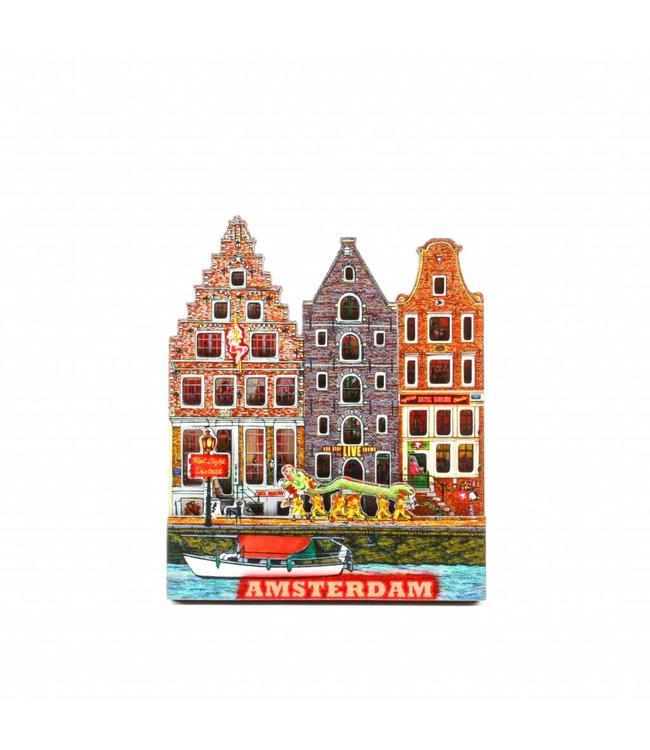 12 stuks Magneet 3D MDF Gelderse Kade Amsterdam