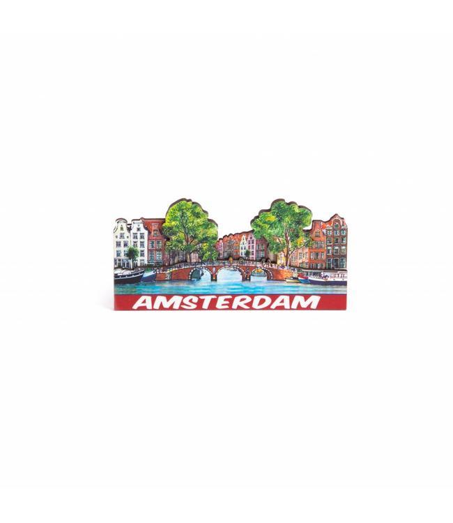 12 stuks Magneet 2D MDF compilatie brug Amsterdam